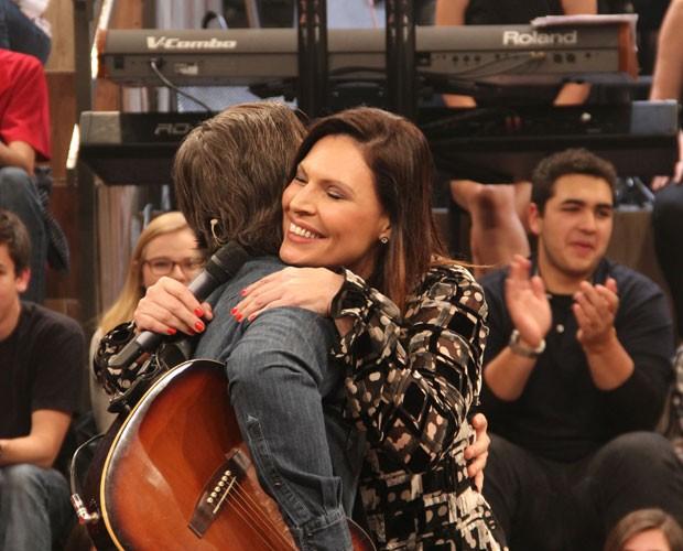 Victor e Laura Müller (Foto: TV Globo/Altas Horas)