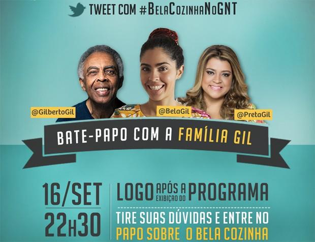 Famlia Gil participa de bate-papo aps estreia da segunda temporada de 'Bela Cozinha'. (Foto: Divulgao GNT)