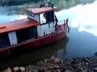 Caminhão cai de balsa no Rio Uruguai e deixa um ferido no Norte do RS