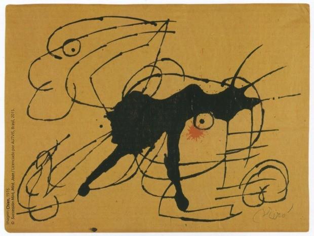Obra Chien, de 1976, de Joan Miró, grande nome do movimento surrealista (Foto: Objeto Sim/Divulgação)