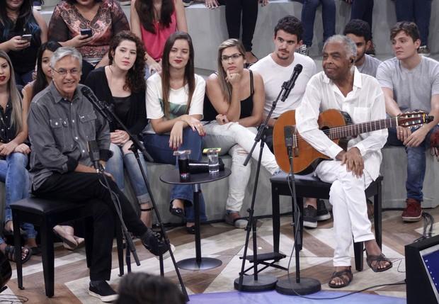 Gilberto Gil e Caetano Veloso (Foto: Celso Tavares / Ego)