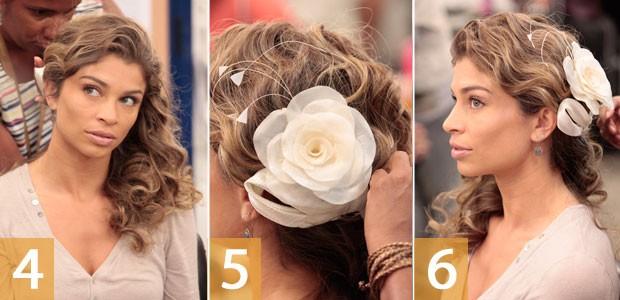 Cabelo Ester noiva 2 (Foto: Flor do Caribe / TV Globo)