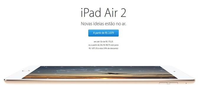 iPad Air 2 e iPad mini 3 começam a ser vendidos no Brasil (Foto: Reprodução/Apple)