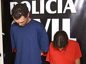 Suspeitos foram apresentados nesta segunda-feira (7) (Foto: Reprodução/TV Integração)