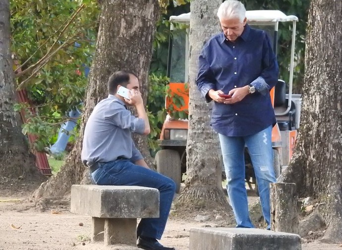Rodrigo Caetano e Flávio Godinho Flamengo (Foto: Fred Gomes)