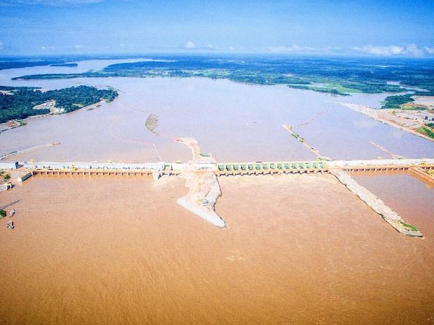 Usina hidrelétrica da Santo Antônio Energia (Foto: Santo Antônio/ Divulgação)