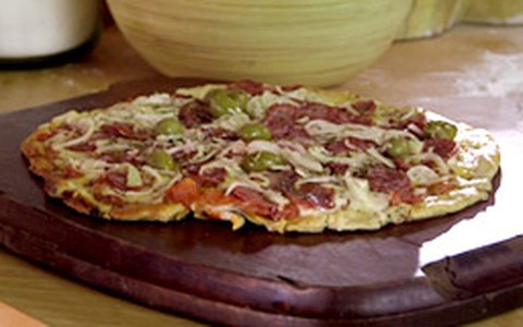 Pizza de calabresa do Rodrigo Hilbert