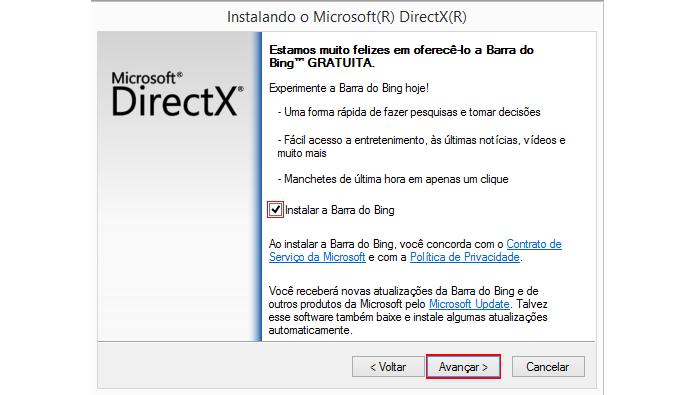 Instalação da barra de ferramentas do Bing é opcional (Foto: Reprodução/Microsoft)