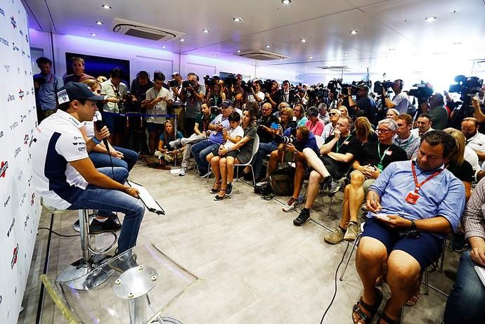 Felipe Massa anuncia aposentadoria da F1 em coletiva na Itália (Foto: Divulgação)