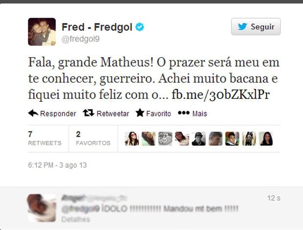Reprodução twitter Fred fluminense (Foto: Reprodução / Twitter)