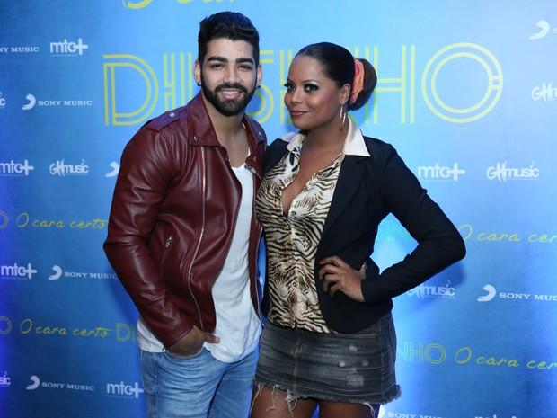 Dilsinho e Adriana Bombom em evento na Zona Oeste do Rio (Foto: Roberto Filho/ Brazil News)