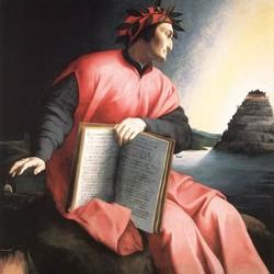 Retrato alegórico de Dante Alighieri, de Agnolo Bronzino, 1530. O livro que que aparece no retrato é uma cópia da Divina Comédia (Foto: Wikimedia)