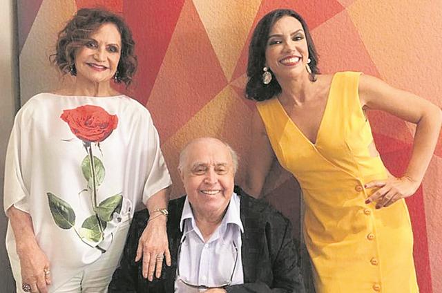 Rosamaria Murtinho, Mauro Mendonça e Ana Paula Araújo  (Foto: Arquivo pessoal)