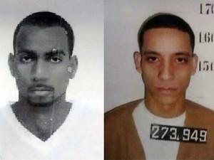Polícia divulga fotos dos suspeitos de matar chefe do CDP de Praia Grande, SP (Foto: Reprodução/TV Tribuna)