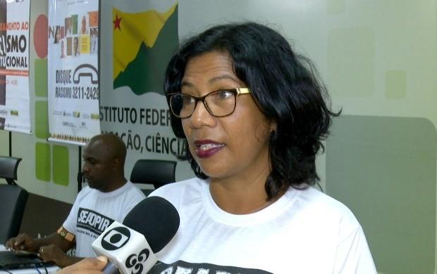 Secretária de Políticas para a Igualdade Racial fala sobre os detalhes do encontro (Foto: Bom Dia Amazônia)