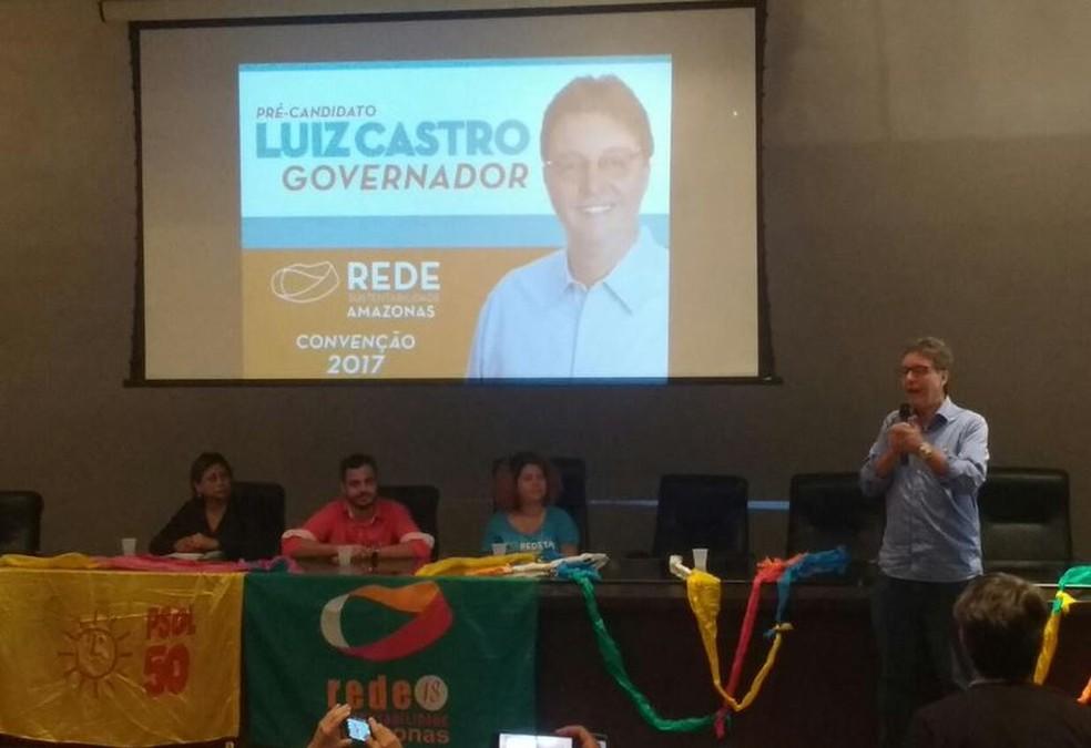 Luiz Castro será candidato da Rede  (Foto: Caio Fonseca/Rede Amazônica)