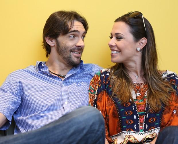 Malu Daudt sempre acompanha o marido Giba no Dança dos Famosos (Foto: Isabella Pinheiro / Gshow)