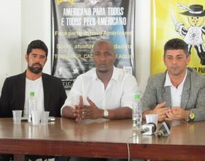 Kiko Rocha, Gilberto e Luciano Viana, do americano (Foto: Granger Ferreira / Ururau)