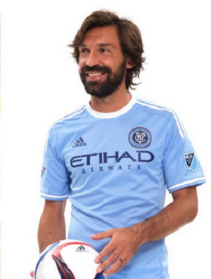Pirlo e David Villa New York City FC (Foto: Reprodução / Twitter)