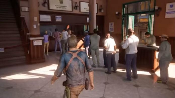 Uncharted 4: fila traz easter egg de Papers, Please (Foto: Reprodução/YouTube)