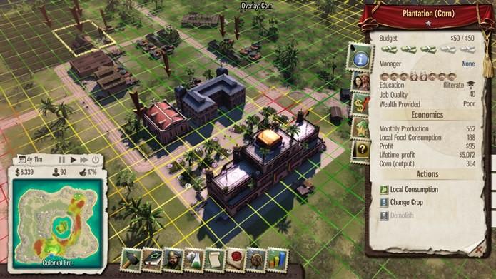Praticamente tudo em Tropico 5 pode ser gerenciado pelo jogador (Foto: Reprodução / Dario Coutinho)