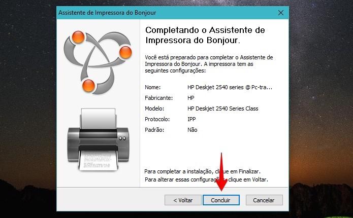 Configure a sua impressora no Bonjour (Foto: Reprodução/Helito Bijora)  (Foto: Configure a sua impressora no Bonjour (Foto: Reprodução/Helito Bijora) )