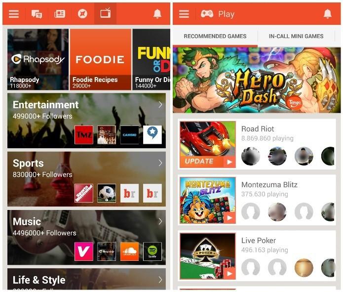 O Tango oferece diversos recursos de multimídia, como jogos e canais (Foto: Reprodução/Lívia Dâmaso)