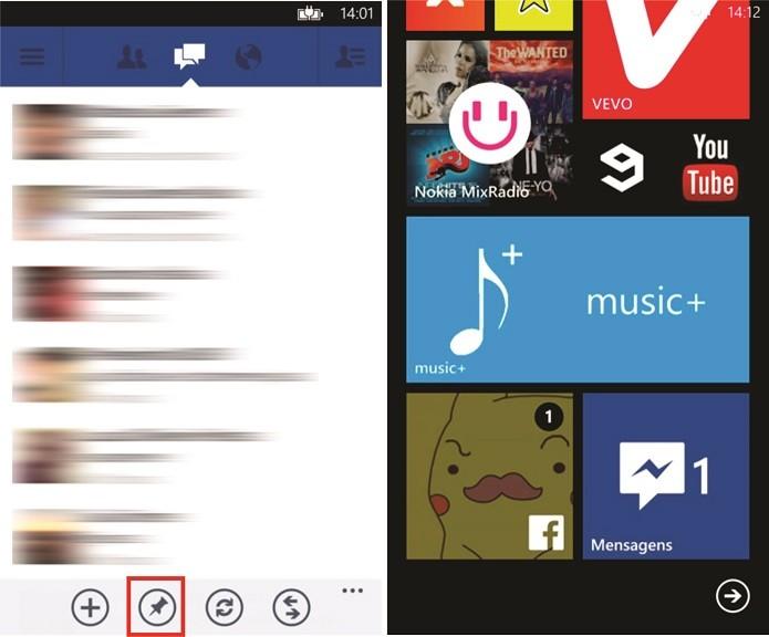 Atalho do Facebook Messenger para Windows Phone exibe notificações de mensagens recebidas (Foto: Reprodução/Elson de Souza) (Foto: Atalho do Facebook Messenger para Windows Phone exibe notificações de mensagens recebidas (Foto: Reprodução/Elson de Souza))