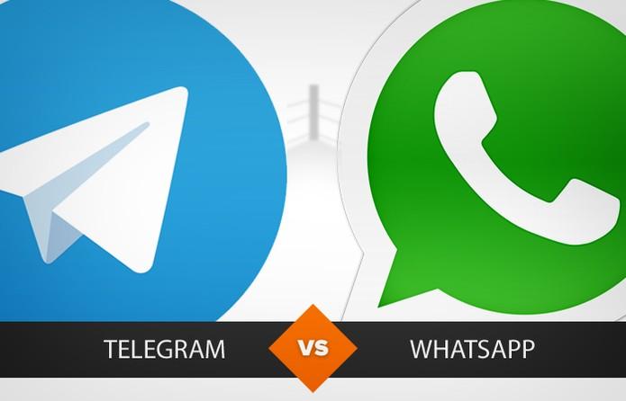 Veja qual é o melhor: Telegram ou WhatsApp Messenger? (Foto: Arte/TechTudo)