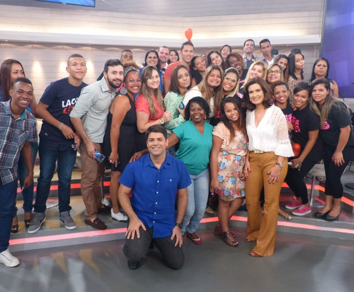 Fátima posa no meio da plateia (Foto: Viviane Figueiredo Neto/ Gshow)