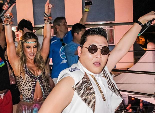 Claudia e Psy (Foto: Fred Pontes)