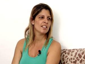 Karina fala sobre o tratamento para engravidar (Foto: Reprodução/TV Tribuna)