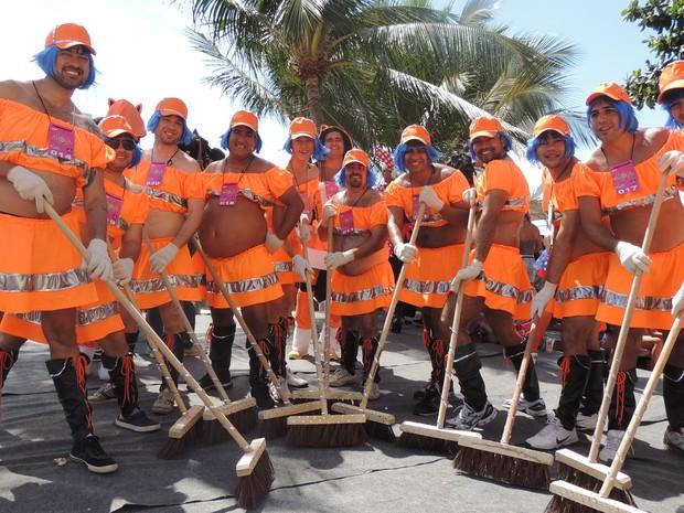Garilindas pedem mais limpeza para Olinda (Foto: Katherine Coutinho / G1)