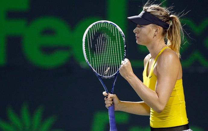 Sharapova tênis Miami (Foto: Reuters)