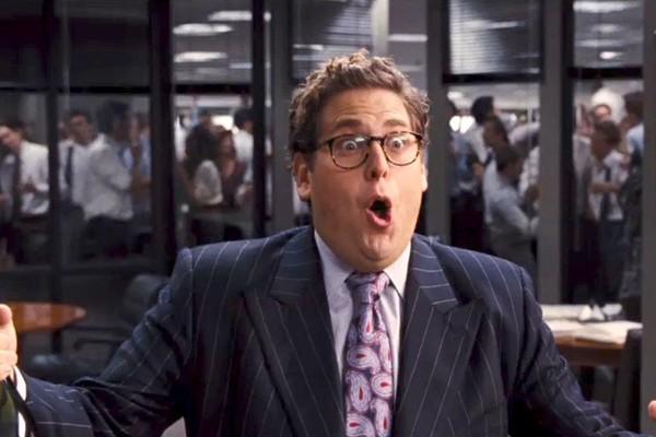 O ator Jonah Hill em O Lobo de Wall Street (2013) (Foto: Reprodução)