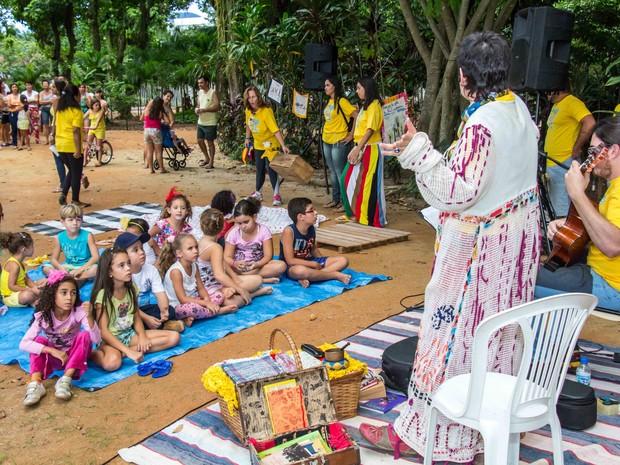 Evento promove a leitura em ambientes abertos (Foto: Marçal Mateus/Divulgação)