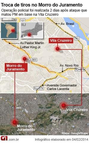 Mapa Morro do Juramento - versão 3 (Foto: Arte/G1)