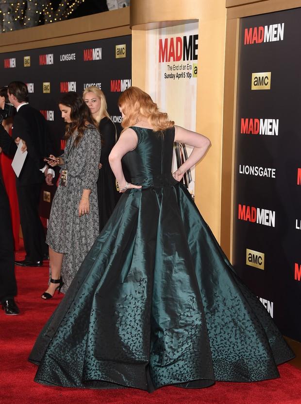 Christina Hendricks na première da última temporada da Mad Men (Foto: AFP)