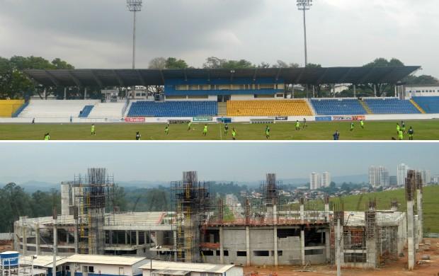 Estádio Martins Pereira e Arena de Esportes - junho (Foto: Danilo Sardinha/Globoesporte.com)