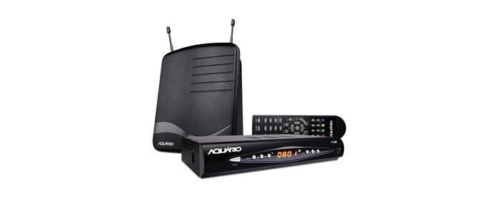 Kit com conversor e gravador digital DTV8100 e antena interna (Foto: Divulgação/Aquário)