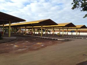 Terminais de ônibus de São Luís ficam vazios por conta de greve, nesta terça-feira (27) (Foto: Reprodução/TV Mirante)