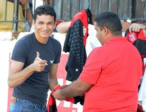 Ronaldo Angelim no Arruda flamengo (Foto: Alexandre Vidal / Fla Imagem)