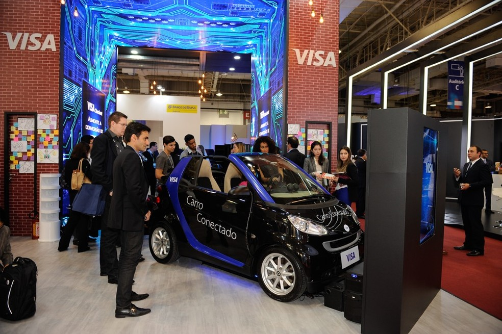 Protótipo de carro conectado da Visa, apresentado na Ciab (Foto: Divulgação/Visa)