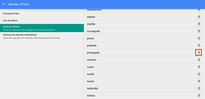Procure pelos idiomas que você deseja traduzir (Foto: Reprodução/Paulo Alves)