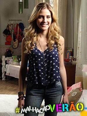 Hanna Romanazzi come de tudo e adora doces (Foto: Malhação / TV Globo)