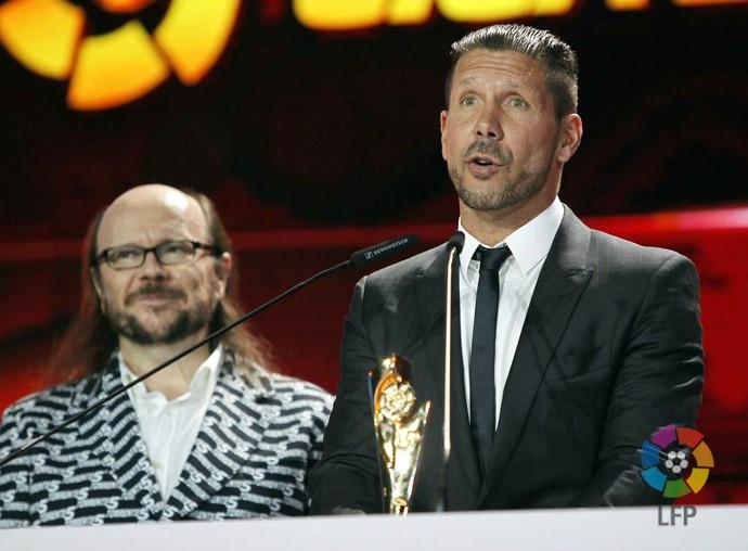 Diego Simeone prêmio melhor técnico (Foto: Reprodução / Facebook)