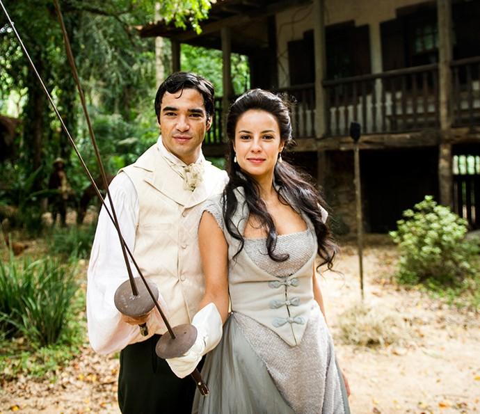 Caio Blat e Andreia Horta: parceria dentro e fora das telas (Foto: João Miguel Júnior/Globo)