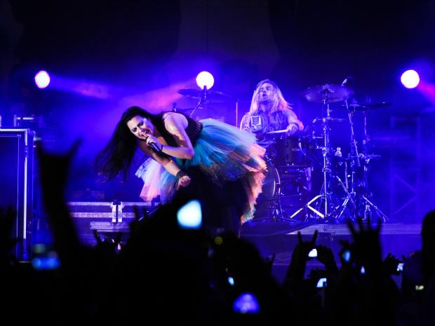 Evanescence se despede de turnê do Brasil com show em Fortaleza (Foto: Alana Andrade/Divulgação)