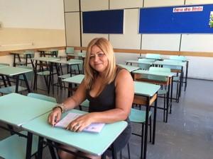 Aos 50 anos, universitária cursa 1° período do curso de Direito (Foto: Cristiane Mendes/G1)