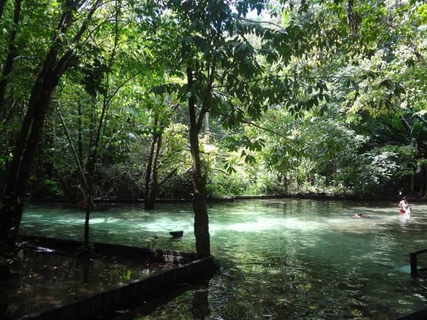 Cidade de Ourém tem diversas opções para banho de rio e contato com a natureza (Foto: Dominik Giusti / G1)